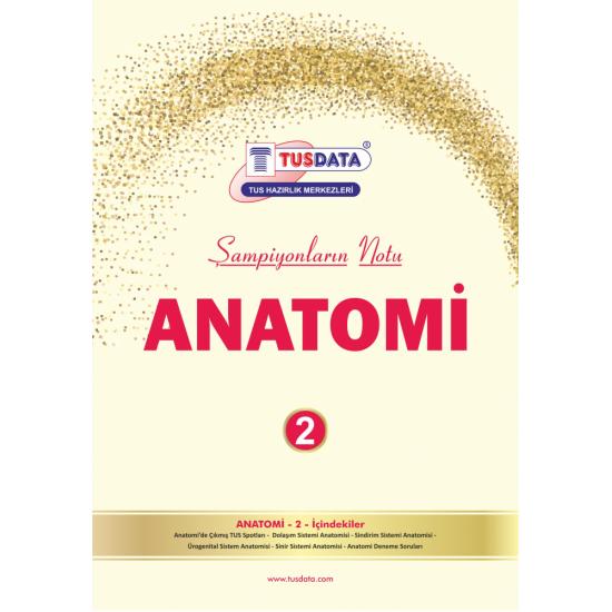 2022 - TUS Şampiyonların Notu ANATOMİ / Erdinç