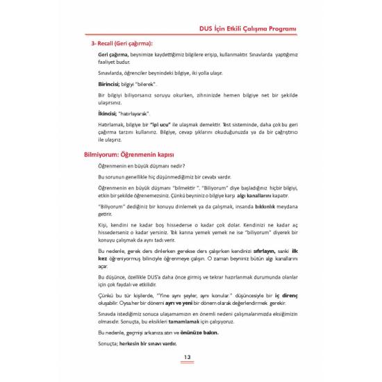 DUS Kazandıran 5 Yöntem ( 2.Baskı ) Eftal Orhan